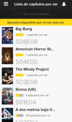 Lista de Capítulos por ver TvShow Yime