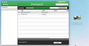 Arrastrar y salvar canción con Sharepod