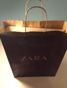 Bolsa Zara con Caja en el interior