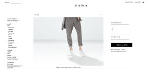 Elegir la talla - Zara