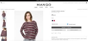 Selección de Color y Talla - Mango
