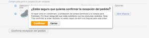 Confirmar la recepción del pedido - AliExpress