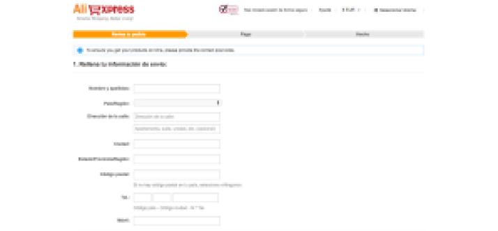 Información de envío - AliExpress