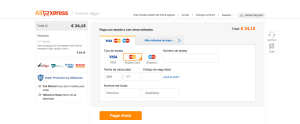 Método de pago - AliExpress