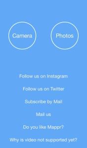 Escoger fotografía - Mappr