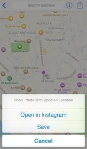 Guardar o abrir en Instagram - Mappr