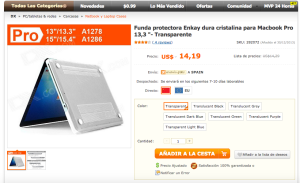 Carcasa MacBook Pro 13,3%22 - DealeXtreme