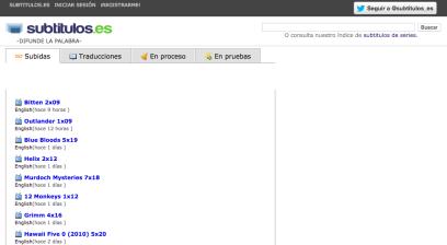 Página Inicio -Subtítulos.es