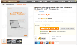 Protector de pantalla MacBook - DealeXtreme