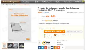 Protector de pantalla MacBook - DealeXtreme