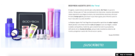 Bodybox Agosto 2015 Me Time