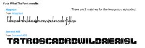 Resultado de Tipografías 1:2 - My Fonts