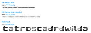 Resultado de Tipografías 2:2 - My Fonts